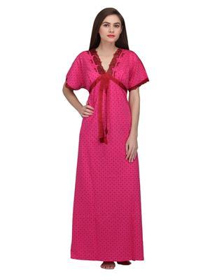 Valentine 8494 Multicolored Women Nighty set