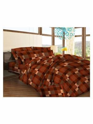 Celsuia 8569-2 Brown Double Bedsheet