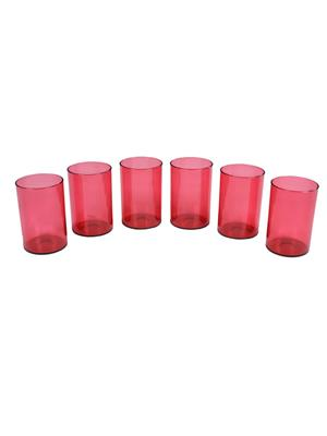 Signoraware 916 Red Glasses Set Of 6