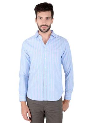 Able 93379  Blue Checkered Men Shirt Fabric