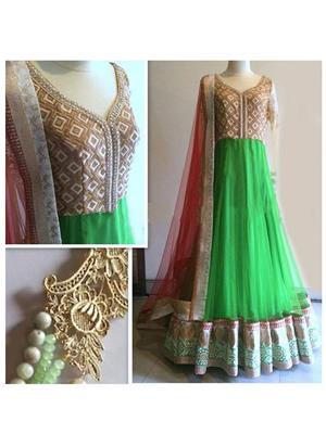 Srinaam 9706 Green Women Gown