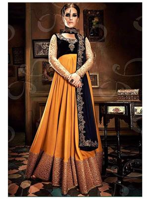 Srinaam 9708 Yellow Women Gown