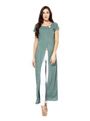 Raindrops 984E Olive Green Women Tunic