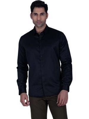 A Chitnis A01 Black Men Formal Shirts