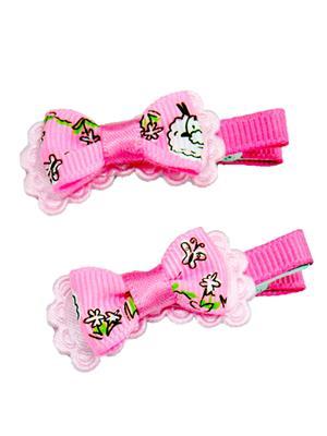 Idha A2-2 Pink Butterfly Women Hair Pin