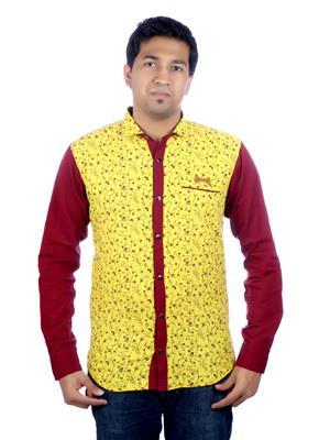 Aaduki AACS178 Yellow Men Casual Shirt
