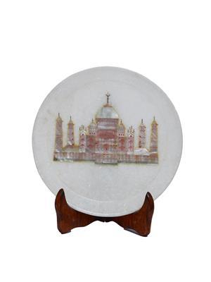 Artist Haat Multicolor Marble 1 Decorative plate Showpieces