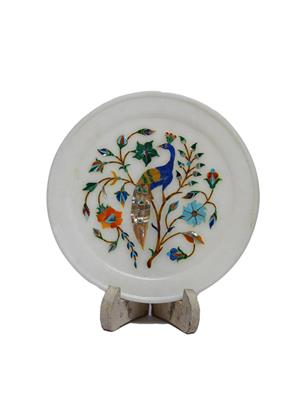 Artist Haat Multicolor Marble 1 Decorative plate Showpieces