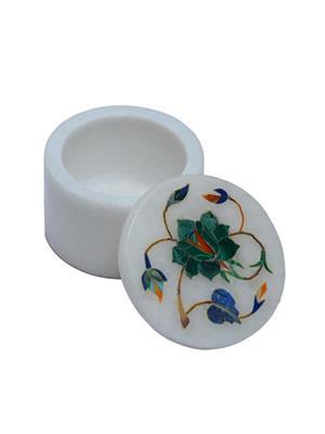 Artist Haat Multicolor Marble 1 Jewellery box Showpieces