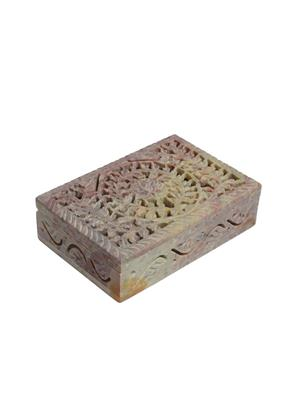Artist Haat Multicolor Stoneware 1 Jewellery box Showpieces