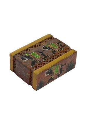 Artist Haat Multicolor Stone 1 Jewellery box Showpieces