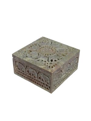 Artist Haat Brown Stone 1 Jewellery box Showpieces