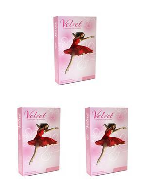 Moods ABDO1001 Velvet (Female condom) Combo Pack Of  3