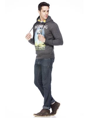 Absurd ABMS14-109 Grey Men Sweatshirt