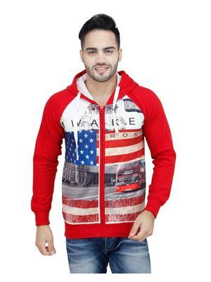 Absurd ABW S15-407 Red Men Hooded Sweatshirts