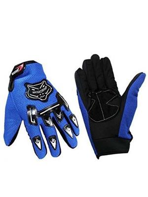 Aashirwad Craft AC1 Blue Black Solid Protective Mens Gloves
