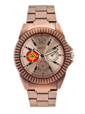 Adine Ad-52008 Rose-Gold Men Analog Watch