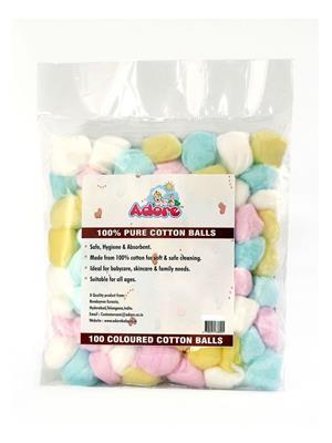 Adore ADRCBC Cotton Balls (Coloured)- 100 Balls