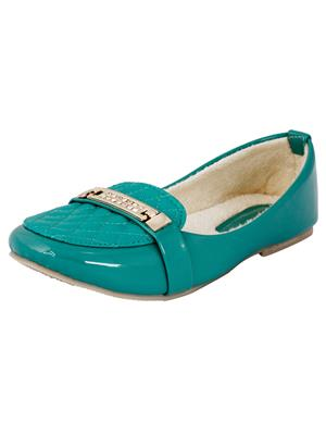 Walk Footwear Ae-L-121-2 Green Women Bellies