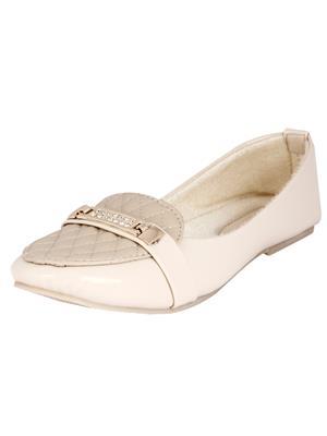 Walk Footwear Ae-L-121-4 Cream Women Bellies