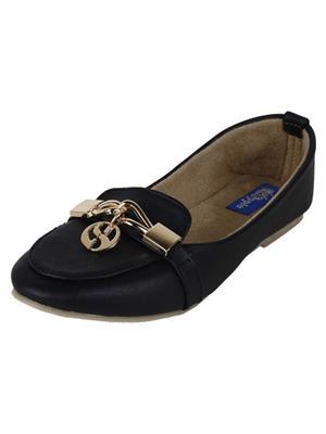 Walk Footwear Ael-1121-1 Black Women Loafers