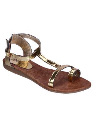 Fashion Mafia AF-5G Golden Women Sandal