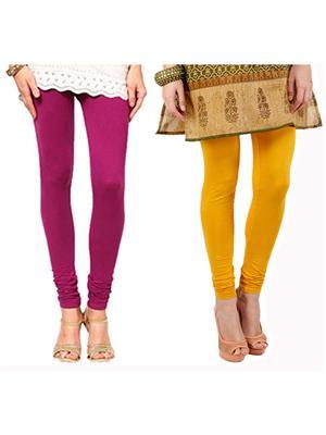 Agrima Fashion AF-617 Multicolored Women Leggings Combo of 2