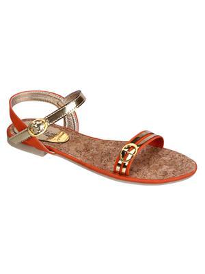 Fashion Mafia AF-6OR Orange Women Sandal