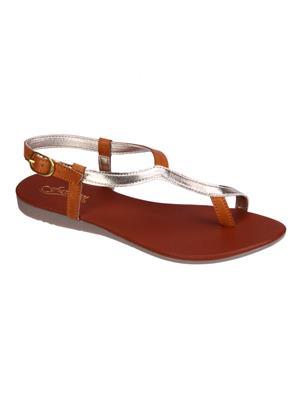 Fashion Mafia AF-9T Tan Women Sandal