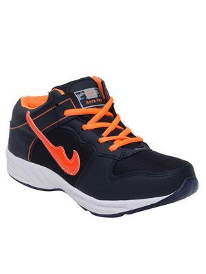 Look & Hook Af-Nike-1 Orange Men Sports Shoes