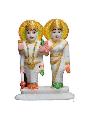 Artist Haat AHI0049 Multicolored Vishnu Laxmi Showpiece