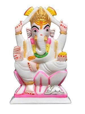 Artist Haat AHI0063 Multicolored Ganesh Showpiece