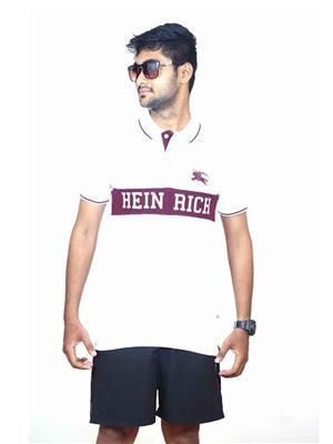 Cutehubby HRP006C2 Men White T-Shirt