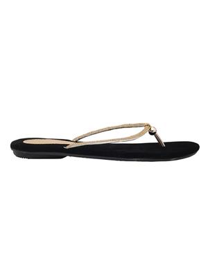Alkawal Ak-010 Black Women Slippers