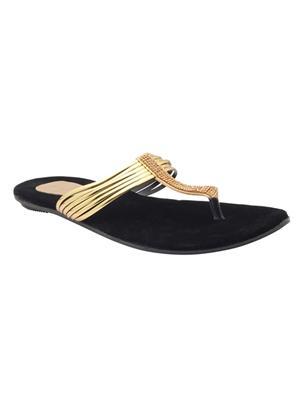 Alkawal Ak-011 Black Women Slippers