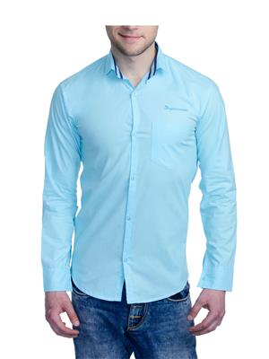 Aligatorr ALI00110 Blue Men Casual Shirt