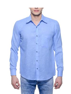 Aligatorr ALI00113 Blue Men Casual Shirt