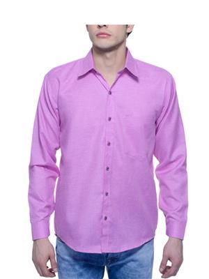 Aligatorr ALI00115 Purple Men Casual Shirt
