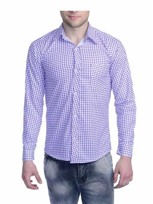 Aligatorr ALI0088 White Men Casual Shirt