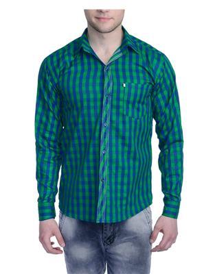 Aligatorr ALI0089 Green Men Casual Shirt