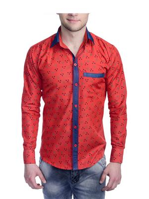 Aligatorr ALI0093 Red Men Casual Shirt