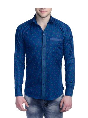 Aligatorr ALI0095 Blue Men Casual Shirt
