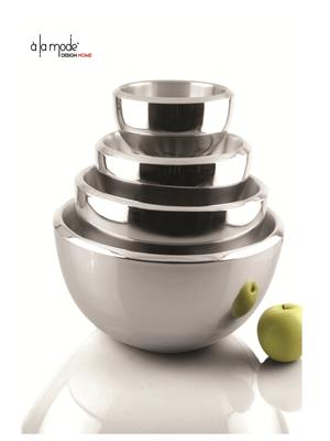 Alamode Design Home Almh17 Silver Bowl