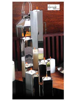 Alamode Design Home Almh24 Silver Candle Set Of 5