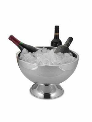Alamode Design Home ALMH 37 Silver Champagne Bowl