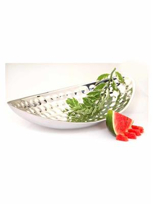 Alamode Design Home ALMH 5 Silver  Double Wall Boat Bowl