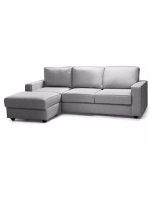 Amey ALRPL008 Light Grey Kian 3 Seater+Ottoman Sofa