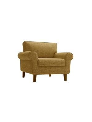 Amey ALRPL011 Brown Asian 1 Seater Sofa