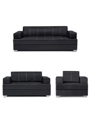 Amey ALRPL016 Black Elegant 3+2+1 Sofa Set