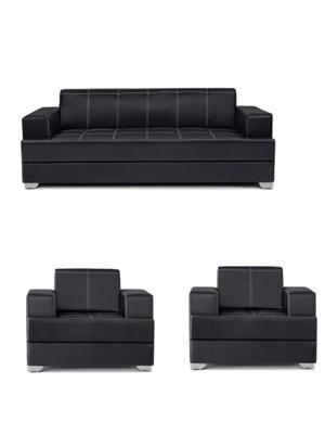 Amey ALRPL017 Black Elegant 3+1+1 Sofa Set